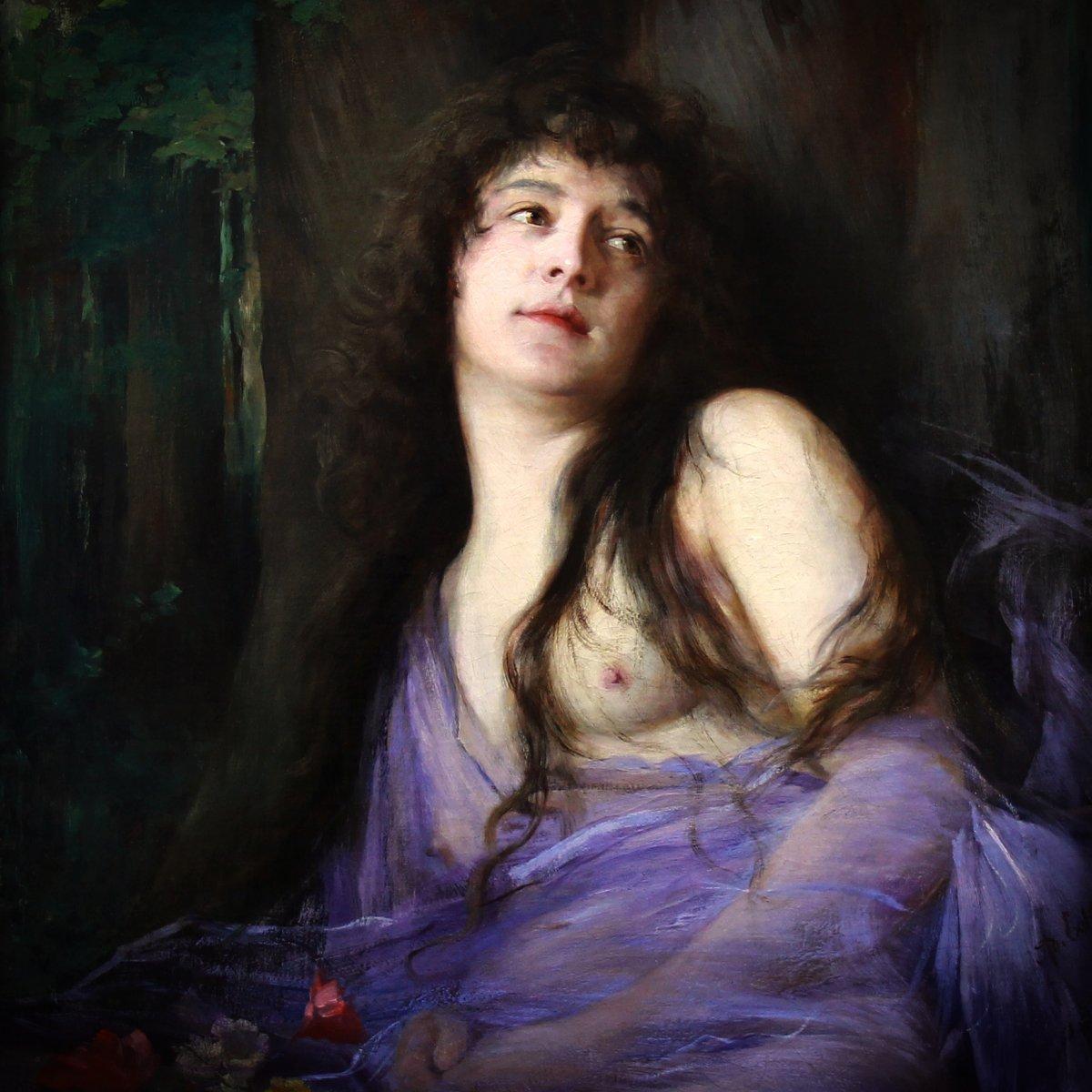 portrait of a nymph by Adolf Echtler
