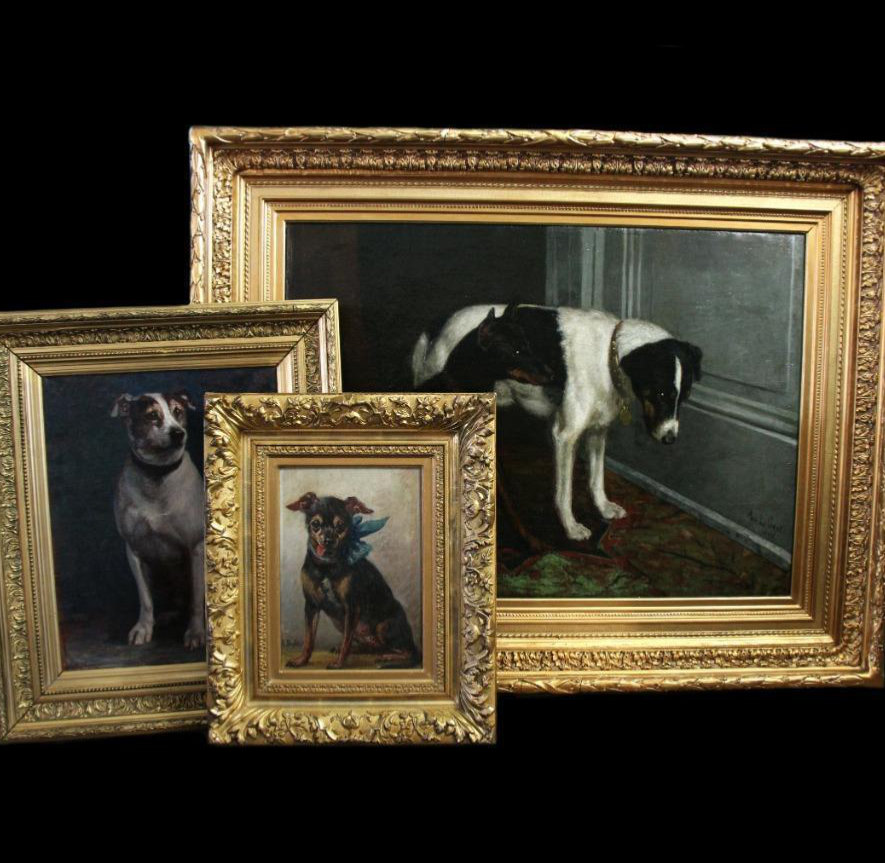 large collection 19th century dog paintings on www.monartsgallery.com