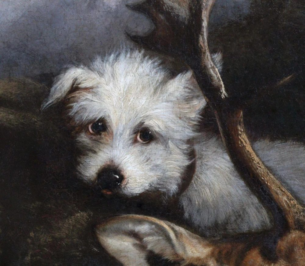 Antique-oil-canvas-hunting-scene-dog-full-3-2048x2-452