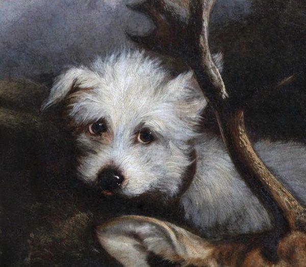 Antique-oil-canvas-hunting-scene-dog-full-3-2048x2-452