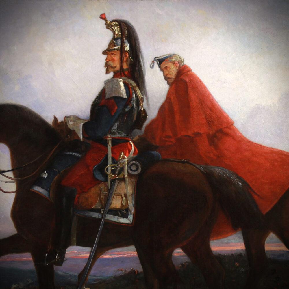 Battle scene Brunet Houard French Imperial dragoon