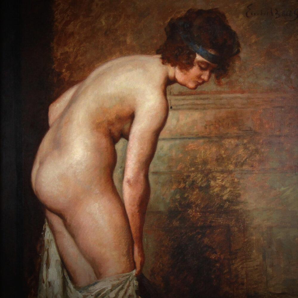 Emile Baes bathing nude vignette