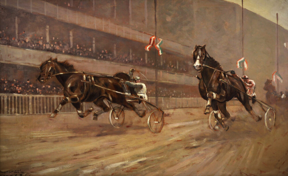 Horse racing by Carl Franz Bauer