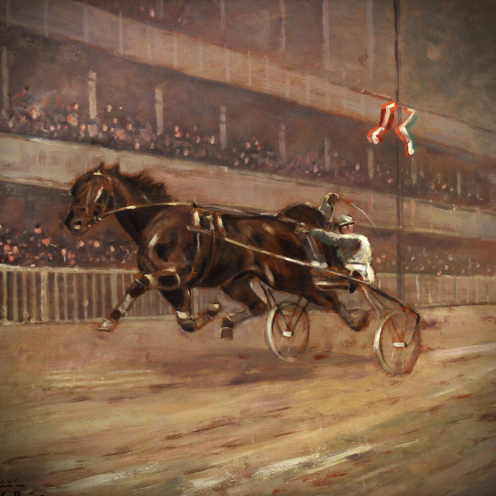 Horse racing by Carl Franz Bauer detail