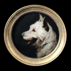 Miniatures dog paintings