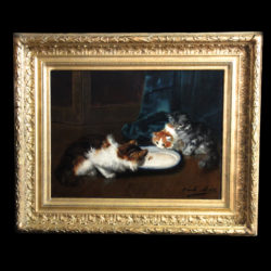 Oli on canvas by Alfred Brunel de Neuville
