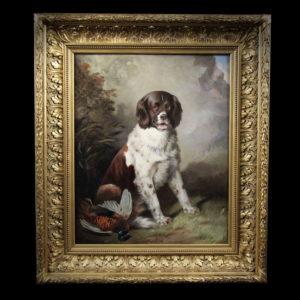 Oil painting , hunting scene atr. to Edwin Henry Landseer