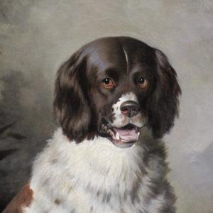 Oil painting hunting scene atr. to Edwin Henry Landseer