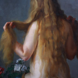 a young beauty nude oil on canvas