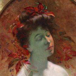 Oil on canvas portrait by Leon Tirode