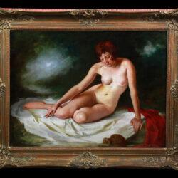 Bathing nude by Maria Szantho