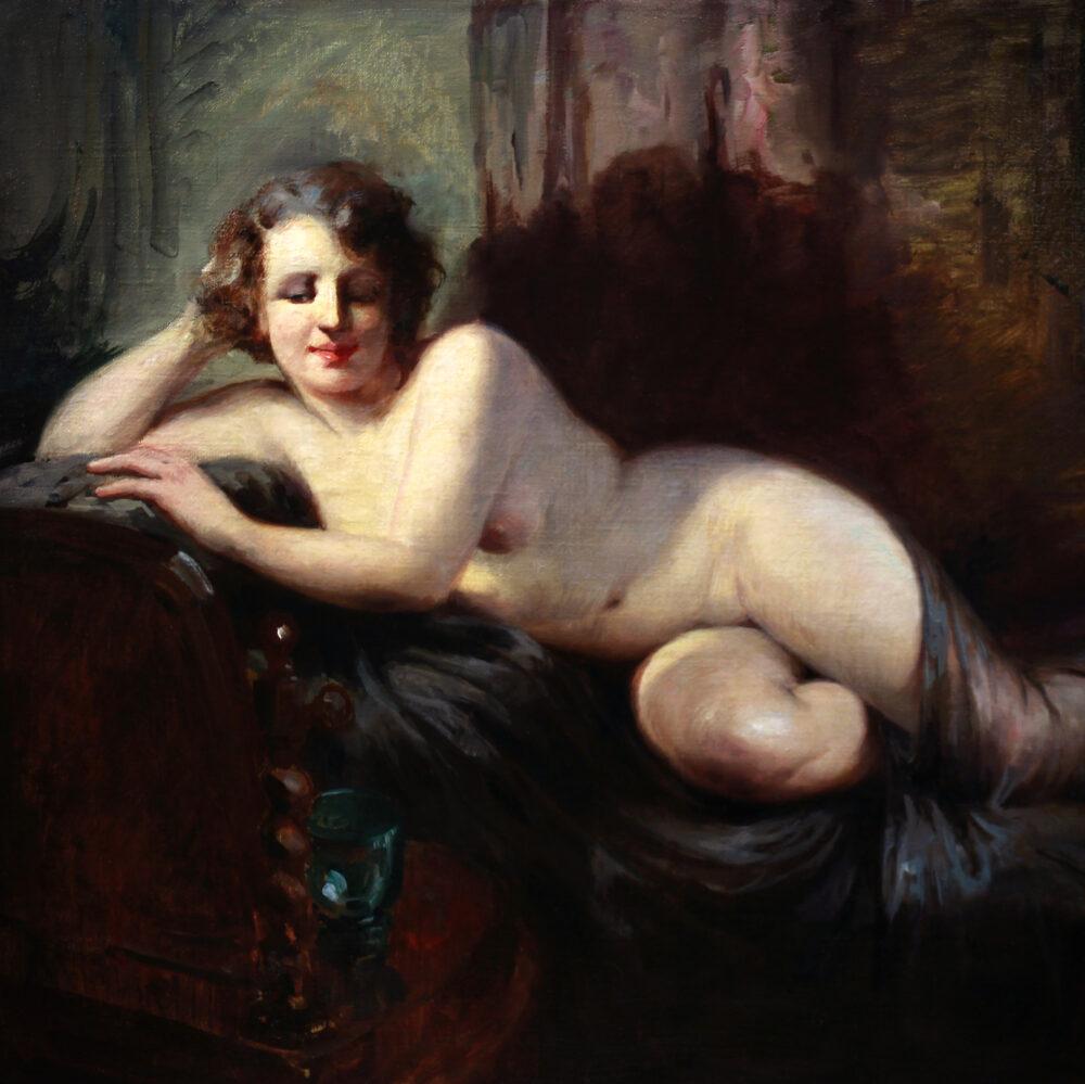 reclining nude by Charles Van Roose