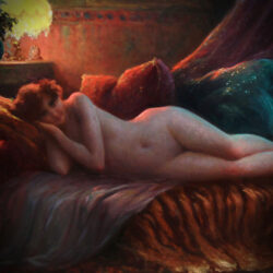 nu allongé sur un divan oil on canvas 1927