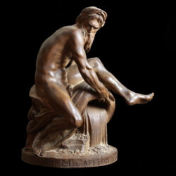 Terracotta sculpture after Jean-Jacques Caffieri 18th