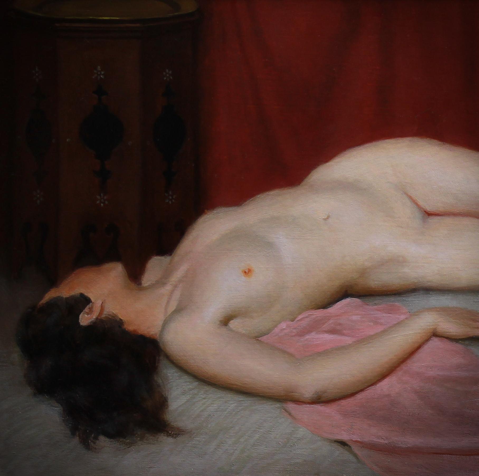 """Oriental nude """" odalisque """"oil on canvas"""