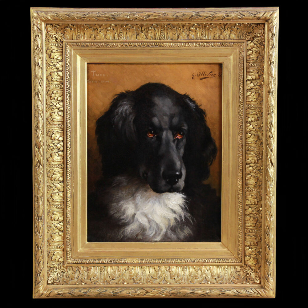 19th century portrait of Tuno the Newfoundlander