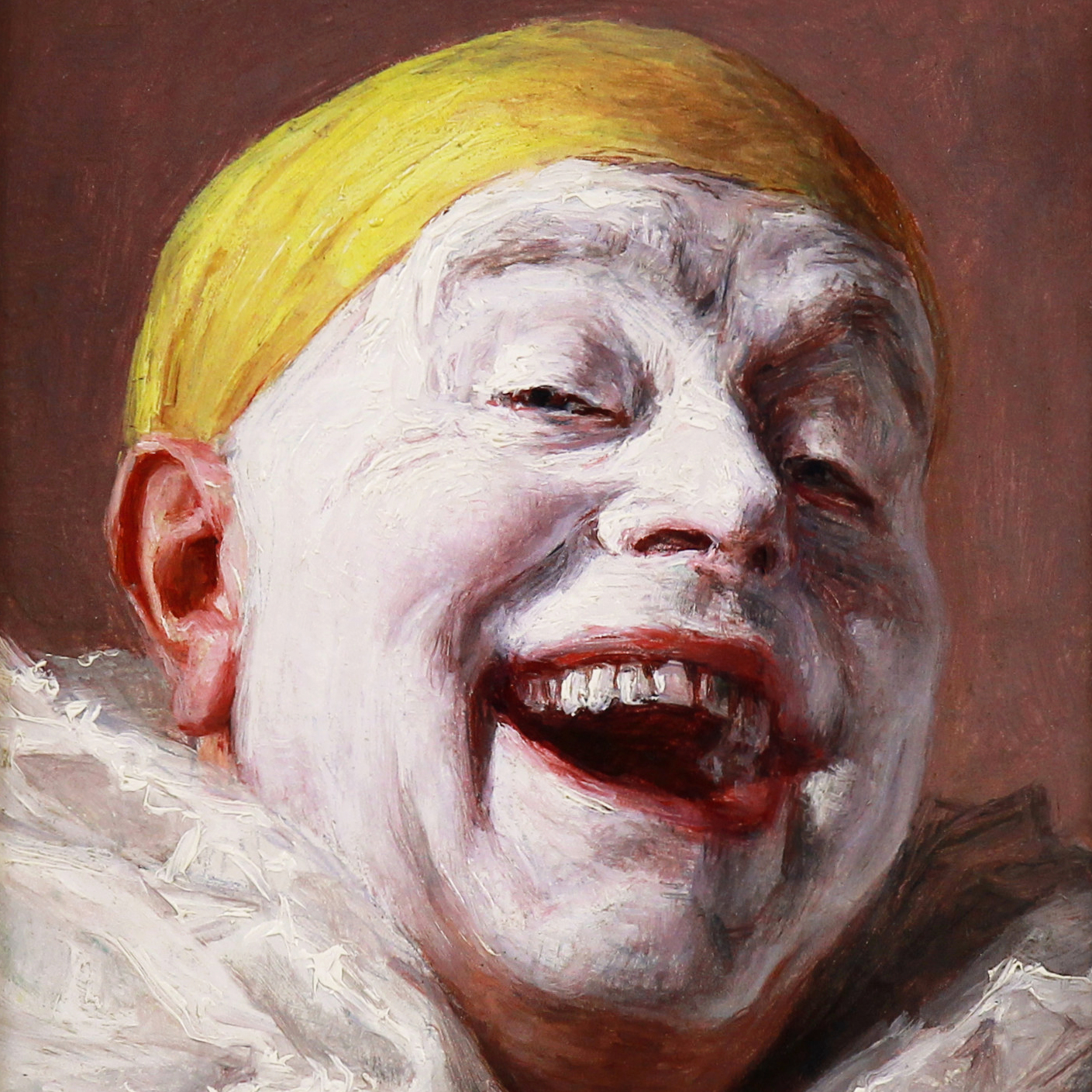 Self portrait the laughing pierrot