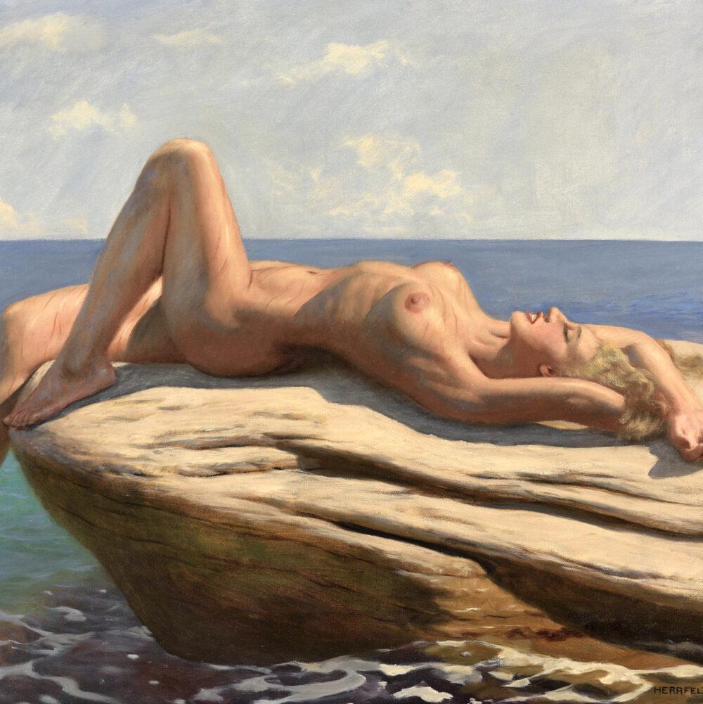 reclining nude Marcel René Herrfeldt Monarts Gallery 1