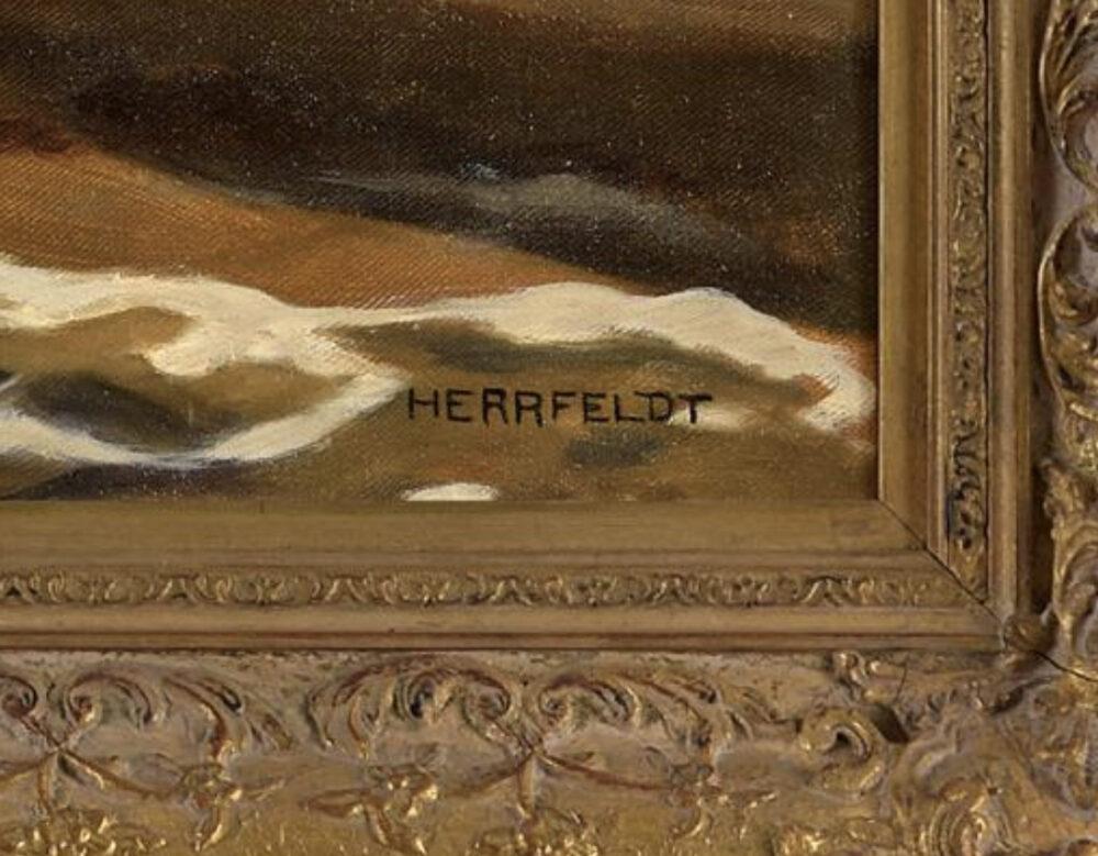 reclining nude Marcel René Herrfeldt Monarts Gallery