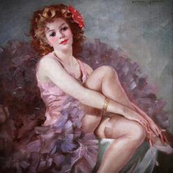 Seated ballerina by Maria Szantho
