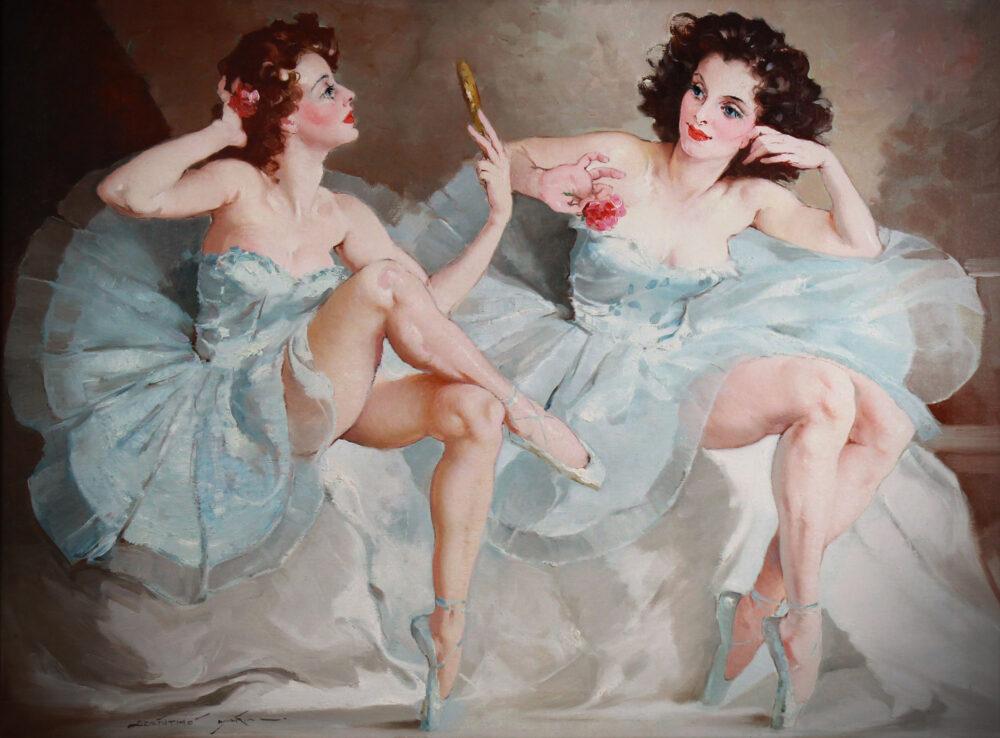 Two ballerinas by Maria Szantho